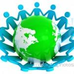 People_around_green_globe